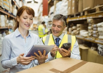 Using smart tablets to manage in a warehouse environment